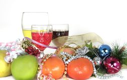 圣诞节新的愿望年 免版税库存图片