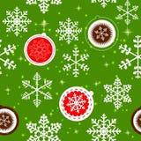 圣诞节新的模式无缝的冬天年 库存图片