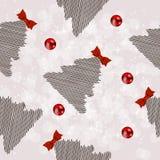 圣诞节新的模式无缝的冬天年 免版税库存图片