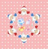 圣诞节新的模式无缝的年 免版税库存图片