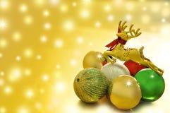 圣诞节新的驯鹿年 免版税库存照片
