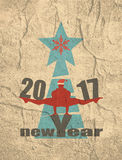 圣诞节新年度 2007个看板卡招呼的新年好 库存照片