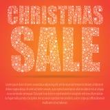 圣诞节新年度 背景圣诞节女孩愉快的销售额购物白色 贴现 向量例证