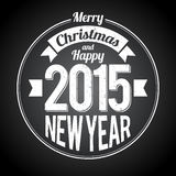 圣诞节新年黑色问候 库存图片