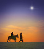 圣诞节旅途 免版税图库摄影