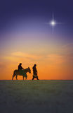 圣诞节旅途 库存照片