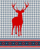 圣诞节无缝模式的驯鹿 库存照片