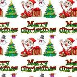 圣诞节无缝的向量 免版税库存照片