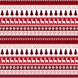 圣诞节无缝的样式寒假装饰品包装纸背景概念 免版税库存图片