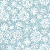 圣诞节无缝的样式雪花。EPS 10 库存照片