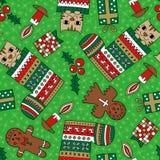 圣诞节无缝的样式 免版税库存图片