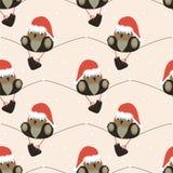 圣诞节无缝的样式 免版税库存照片