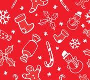 圣诞节无缝的样式 库存例证