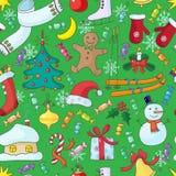 圣诞节无缝的模式 免版税库存图片