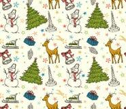 圣诞节无缝的模式 免版税图库摄影