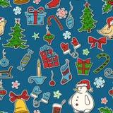 圣诞节无缝的模式 图库摄影