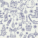圣诞节无缝的模式 免版税库存照片