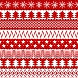 圣诞节无缝的纹理 免版税库存图片