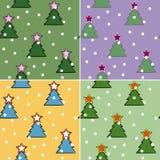 圣诞节无缝的结构树 库存照片