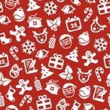 圣诞节无缝的背景 免版税库存照片