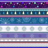 圣诞节无缝的镶边墙纸 免版税库存图片