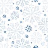 圣诞节无缝的雪花背景 向量例证