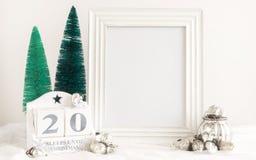 圣诞节日历-直到圣诞节的20睡眠 免版税库存图片