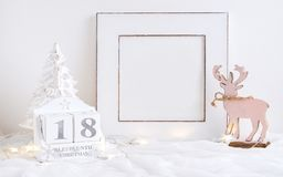 圣诞节日历-直到圣诞节的18睡眠 免版税库存照片