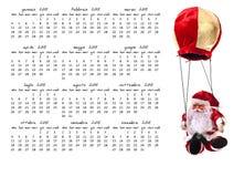 圣诞节日历 库存照片