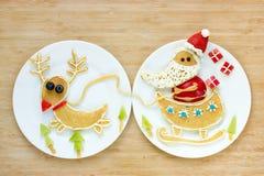 圣诞节早餐薄煎饼 库存图片