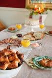圣诞节早餐 图库摄影