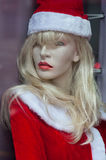 圣诞节时装模特 免版税库存照片