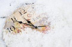圣诞节时钟时间 免版税库存照片