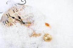 圣诞节时钟时间 免版税图库摄影