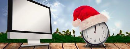 圣诞节时钟的综合图象 免版税库存图片