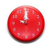 圣诞节时钟 库存例证