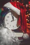 圣诞节时钟 免版税库存图片