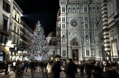 圣诞节时间在佛罗伦萨-佛罗伦萨 免版税库存照片