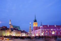 圣诞节时间在华沙 库存照片