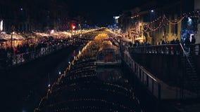 圣诞节时间在米兰 免版税库存照片