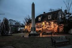 圣诞节时间在Wickford,罗德岛州 库存图片