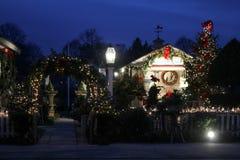圣诞节时间在Wickford,罗德岛州 免版税库存图片