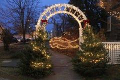 圣诞节时间在Wickford,罗德岛州 免版税图库摄影