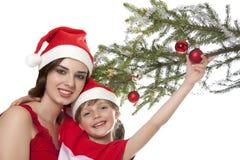 圣诞节时间的二个姐妹 库存照片
