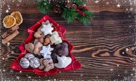 圣诞节时间的德国圣诞节曲奇饼 免版税库存图片