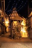 圣诞节时间在阿尔萨斯 免版税库存照片