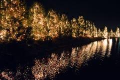 圣诞节时间在McAdenville 库存图片