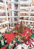 圣诞节时间在Suria KLCC,马来西亚的首要的商城 免版税库存照片