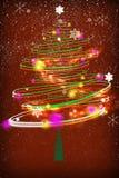 圣诞节时间结构树 免版税库存照片