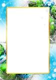 圣诞节明亮的五颜六色的装饰框架 向量例证